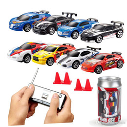 drift car racing NZ - RC Cars Coke Can Racing Car rc drift car 1:64 amg 4 Frequencies 20KM H Robots brinquedos kids toys Robot Remote Control Line electric turbo