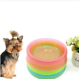 $enCountryForm.capitalKeyWord Australia - Candy Plastic Pet Dog Bowl Anti Slip Feeding Bowl Pet Food Container Tray Pet Supplies for Cats Dogs