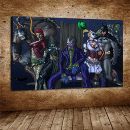 $enCountryForm.capitalKeyWord Australia - Batman Arkham Asylum,Home Decor HD Printed Modern Art Painting on Canvas (Unframed Framed)