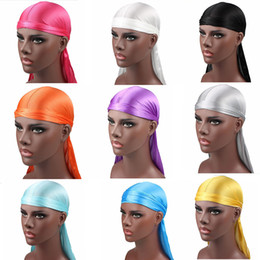 wig crochet hat Australia - 24Styles Boys Durags Silky Durag teenager Hats Beanie Caps Satin Bandana Turban Wigs Headwear Headband Pirate Hat Male Hair Accessories M890