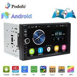 "$enCountryForm.capitalKeyWord UK - Podofo 2din Car Radio Stereo Android GPS Navigation 7""1024*600 Universal Car Player Wifi Bluetooth USB Radio Audio Player No DVD"
