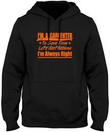 tops trading Australia - Carpenter Right Bad Ass Tradesman Joke Union Tribe Proud Trades Xx Tops Cool Hoodies & Sweatshirts
