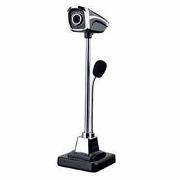 $enCountryForm.capitalKeyWord UK - USB 2.0 Wired Webcams PC Laptop web camera 12 Million Pixel Video Camera With Microphone Adjustable Angle HD LED Night Vision