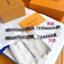 Beaded crystal Bags online shopping - Brandsliver Bracelet Bangle For Women men Best Quality Designer stainless Steel Silver bracelets with brand bag