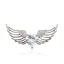 $enCountryForm.capitalKeyWord UK - One Free Shipping Fashion Wild Lady Shawl Buckle Angel Wings Brooch Heart Zircon Brooch Silk Scarf Buckle Accessories Pin Kissthegirl