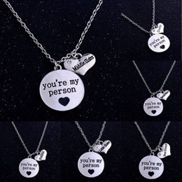 Pendant best friends forever online shopping - YOU RE MY PERSON Circle Heart Pendants Familial Affection Necklaces Chocker Jewelry Lovers Best Forever Valentine s Chain for Friends Lovers
