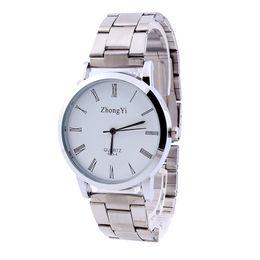 Mens Wholesale Glasses Australia - Lovers Couple Stainless Steel Watches Mens Women Fashion Roman Numerals Analog Quartz Wrist Watch Female Clock Woman Relojes#Zer