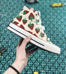 $enCountryForm.capitalKeyWord NZ - 2019 New Designer Shoes 1970s Star Chuck Rice White Strawberry Printin Sneakers For High Quality Casual Shoes Men Women Outdoors Skate Shoes