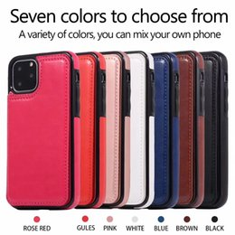 leather case iphone id Australia - ID Card Pocket Case For Iphone 11 XR XS MAX 7 6 Galaxy S10 S10e S9 Retro Multifunction Luxury Wallet Leather+TPU Holder Card Box Flip Cover