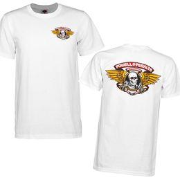 Cheap T Shirts Wholesale Purple Australia - Bones Winged Ripper Powell Peralta T-Shirt White Skull OG Skateboard M L XL XXL Cheap Crew Neck Men'S Top Tee