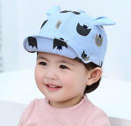 855abd4ef80 Baby Baseball Cap Kids 2019 Spring New Girl Boys Cartoon Print Cat Ear Cap  Adjustable Soft Brim Hat Caps Cotton Chapeu MZ7315