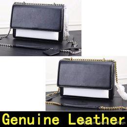 $enCountryForm.capitalKeyWord NZ - Genuine Saint White Match Black Leather Designer Handbags High Quality Luxury Handbags Original Gold Chain Silver Chain Women Shoulder Bags
