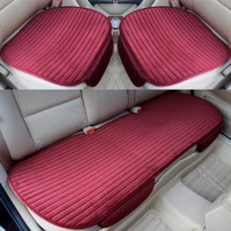 Sets Velvet NZ - 3PCS SET Universal Front Back Winter Car Seat Cover Velvet Breathable Keep Warm Car Seat Cushion Anti-Skid Pad Protector Mat