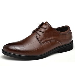 $enCountryForm.capitalKeyWord Australia - Men's formal shoes male derby Leather dress shoes men rubber sole lace-up mans footwear business brown black big size 37-47