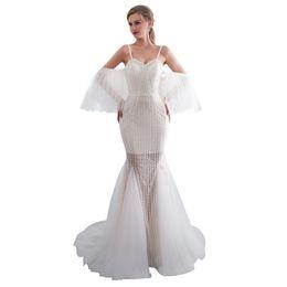 af2cb983228 Ivory Mermaid Long Prom Dresses 2019 New Sweetheart Floor Length Strapless  Zipper Formal Evening Dress Custom Made Plus Size