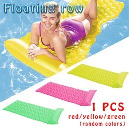 Adult Swim Inflatable Pools Australia - New Portable Wave Floating Row Adult Water Bed Hammock Inflatable Beach Mat Swimming Pool Air Lightweight Floating