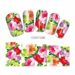 $enCountryForm.capitalKeyWord UK - 1 Sheet Blooming Flower Pattern Nail Art Water Transfer Sticker Decals Wraps Tips Decoration 1396