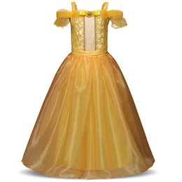 Discount kids carnival costumes girls - Christmas Gift Cinderella Cosplay Kids Party Girls Dress 10 to 12 Fancy Carnival Costume Princess Dresses 4 9 10Years