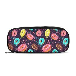 Pen Pouches Australia - Candy Donut 3D Printing Coin Purse For Kids Children Pouch Pen Holder Pencil Bags School Supplies Change Purse Case Pen Bags