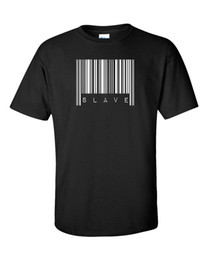 male slave clothes UK - Barcode T Shirt Smash Revolt Freedom Slave Anarchy Revolution Anti System Machine Brand Cotton Men Clothing Male T-shirt