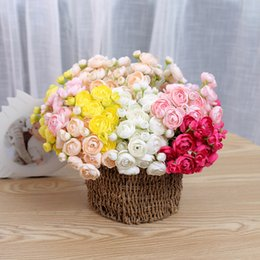Flor artificial segurando flores peônia para decoração de flores de tecido para decoração de mesa de casamento homepi ... venda por atacado