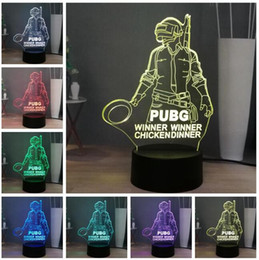 change player UK - 2019 Hot Game Cool Player Unknown's Battlegrounds 3D PUBG 7 Color Change Decor LED Father Brother Boyfriend Valentine's Day Birthday Xmas Gi