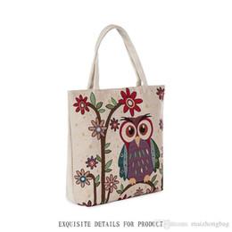 $enCountryForm.capitalKeyWord Australia - Japan Style Shopping Bags New Vogue High Quality Canvas Material Painting Women Handbag Owl Design Shoulder Bags Fashion