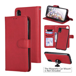 """$enCountryForm.capitalKeyWord Australia - Kickstand Wallet Leather Case with 2 in 1 Detachable Cover Fit Car Mount, Case For Apple iPhone XR 6.1""""inch 2018"""