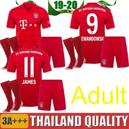 Lewandowski Jersey Australia - Adult kits 2019 2020 Bayern Munich jerseys 19 20 LEWANDOWSKI ROBBEN TOLISSO THIAGO home soccer jersey JAMES youth Football shirt