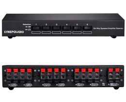 Wholesale 6-channel High Power Stereo Speaker Selector with Volunm control 6 ports TV AMPLIFIER Speaker audio Switcher Splitter for school etc