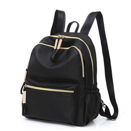 $enCountryForm.capitalKeyWord Australia - 2019 Casual Oxford Backpack Women Black Waterproof Nylon School Bags For Teenage Girls High Quality Fashion Travel Tote Backpack Y19061004