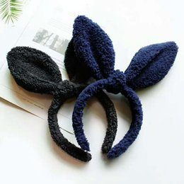 Опт Же милые милые плюшевые ткани кроличьи уши волосы мягкая стальная проволока пластиковая маска для лица шпилька для волос