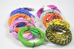 Colorful Usb Charger Cable 3m Australia - 500 Fabric Braided V8 Micro BraidedBraided USB cable colorful 1M 2M 3M Charger Adapter Data Sync Nylon Line for Samsung S5 S6 iphone 5 6 7 8