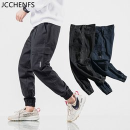 Hip Hop Pants Brands NZ - JCCHENFS 2018 Hip hop Pants Men Oversized Multi-Pocket Street Style Pants Cotton Brand Casual Men Black Jogger Size:M-5XL