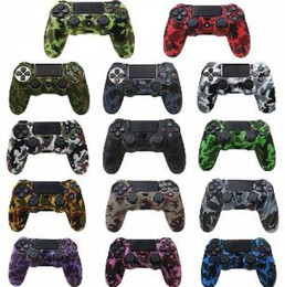 $enCountryForm.capitalKeyWord Australia - 2019 Durable Camouflage Camo Silicone Gel Rubber Soft sleeve Skin Grip Cover Case For Playstatio PS4 Pro PS4 Slim Gamepad Protect