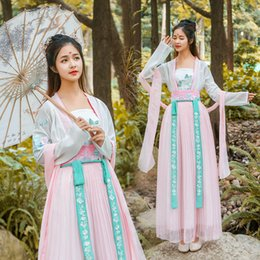 $enCountryForm.capitalKeyWord Australia - Women Hanfu Traditional Costumes Tang Suit Women Ancient Fairy Dress Spring Festival Perform Stage Wear Cosplay Clothes DWY1916
