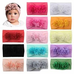 christmas headbands for infants Australia - Baby Head Wrap Chiffon Flowers Newborn Infant Soft Nylon Headbands Hair Accessories for Girls Kids Toddler Childrens Christmas Gift