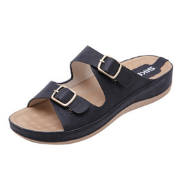 $enCountryForm.capitalKeyWord UK - Women's Open Toe Sandals Bohemian Belt Buckle Casual Beach Shoes Flat Slippers non-slip slippers outdoor chaussures femme#g7
