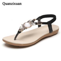 $enCountryForm.capitalKeyWord Australia - Quanzixuan Women Sandals Flip Flops Casual Flat Sandals Fashion Women Shoes Owl 2018 Spring Summer Beach #10264