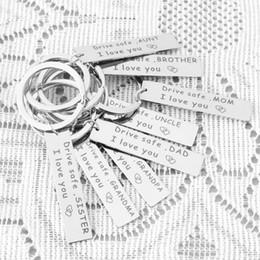 $enCountryForm.capitalKeyWord NZ - Drive Safe Keychain Stainless Steel Car Key Holder Family Gifts to Grandpa Grandma Dad Mom Sister Brother Birthday Keyring Wholesale M53Q