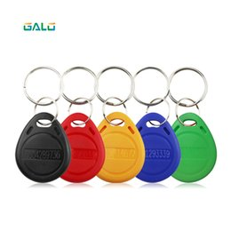 card reader 125khz id NZ - DOOR Reader 100pcs 125khz RFID Keychain Stickers Card Tag Key ID Key fob TK4100 Door Entry Access Control EM Key Chain Token