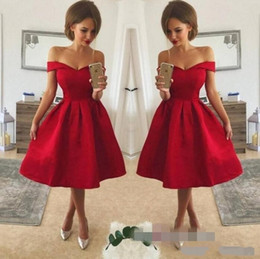 2d38f0b3883a Cheap pretty homeComing dresses online shopping - Pretty Red Knee Lenght  Cheap Prom Homecoming Dresses A