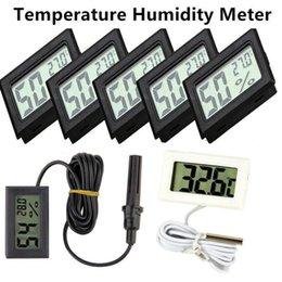 Vente en gros Multifonction Mini LCD numérique intérieur extérieur congélateur Thermomètre capteur de température mètre