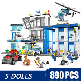 Diy Boys Toys UK - 890PCS Small Building Blocks Toys Compatible with Legoe City Police Station Gift for girls boys children DIY
