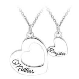 Chain Sets Figaro Australia - 2pcs Set Selling Jewelry Mother'S Day Gift Splicing Necklaces Wholesale Mother&Daughter Love Letters Pendant Necklace Set
