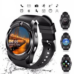 $enCountryForm.capitalKeyWord NZ - V8 Smart Watch Men Bluetooth Sport Watches Women Ladies kids Touch Screen Smartwatch with Camera SIM Card Slot Android Phone