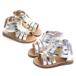 mini melissa shoes wholesale Australia - Baby Girl Summer Sandals Gold Silver Roman Princess Prewalker Mini Melissa Kids Shoes Leisure for Baby Boy Toddler Trainer Child