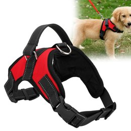 $enCountryForm.capitalKeyWord NZ - Adjustable Pet Puppy Large Dog Harness for Small Medium Large Dogs Vest Collar Pet Walking Out Hand Strap Dog Supplies S M L XL