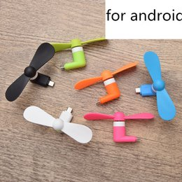 micro fans UK - Mini Cool Micro USB Fan Mobile Phone USB Gadget Cooler Fan Tester Cell phone For type-c Samsung S10e S10 plus iphone X XS MAX XR