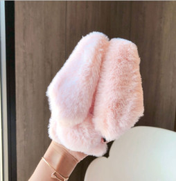 $enCountryForm.capitalKeyWord NZ - Fashion Soft Rex Rabbit Hair Fur Phone Case Plush Warm Fur Back Cover For iphone xs case xs max xr 8 7 6sPlus